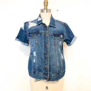 0018 Pacsun Short sleeve denim jacket sz S